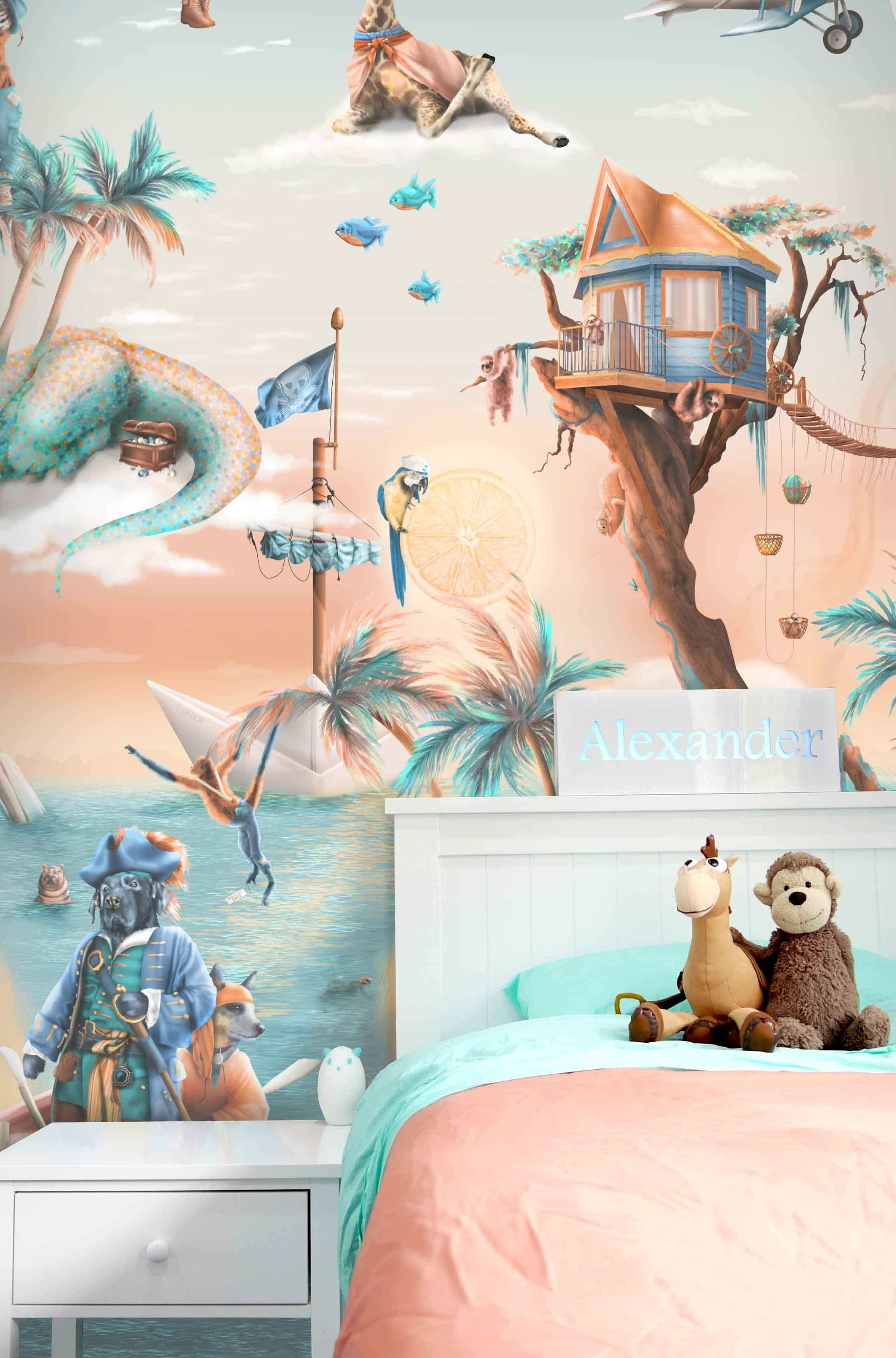 Awesome Jungle Tropical Wallpaper Mural Kids Australia
