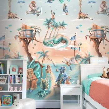 Cool Jungle Tropical Wallpaper Mural Kids Australia