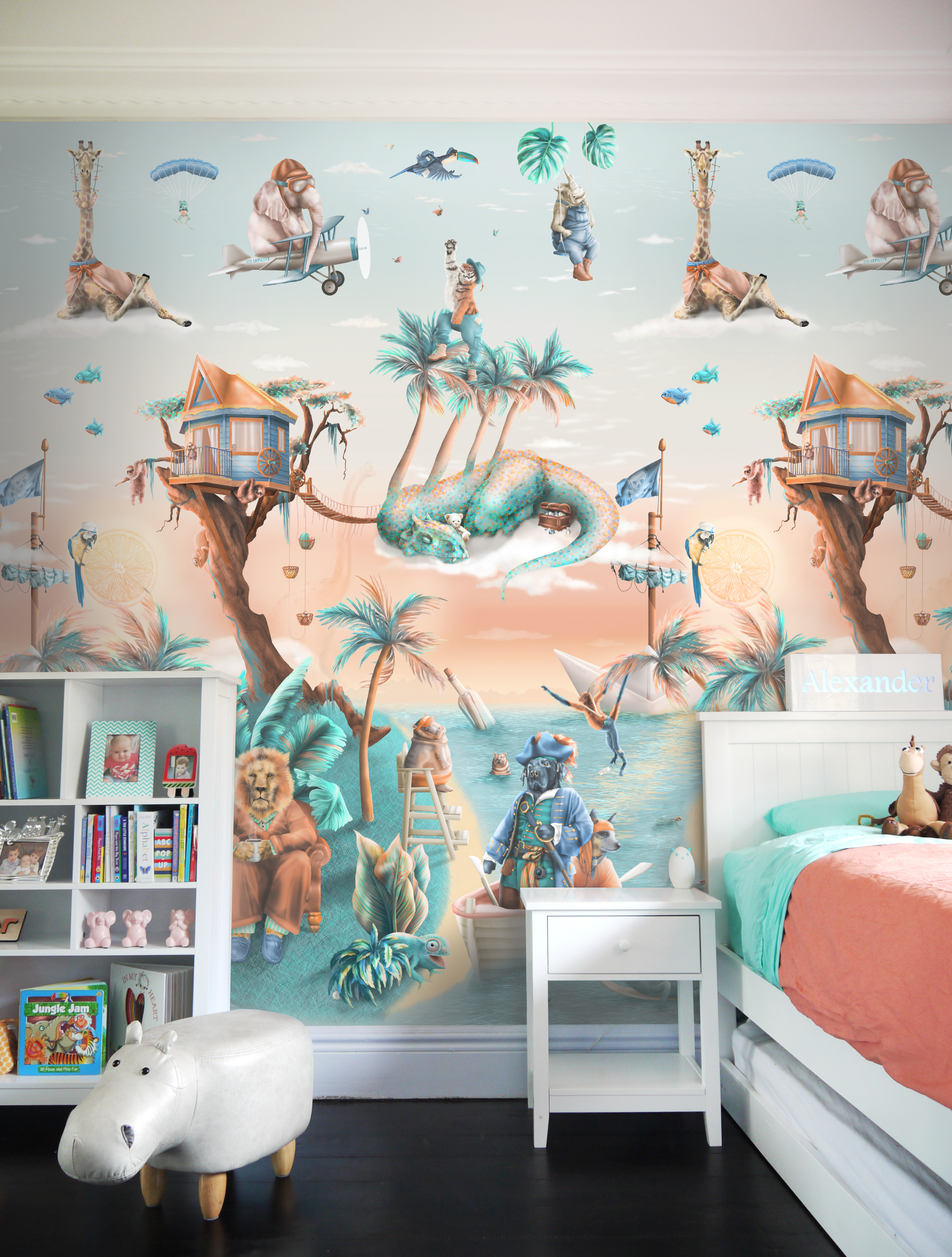 Cool Jungle Tropical Wallpaper Mural Kids Australia