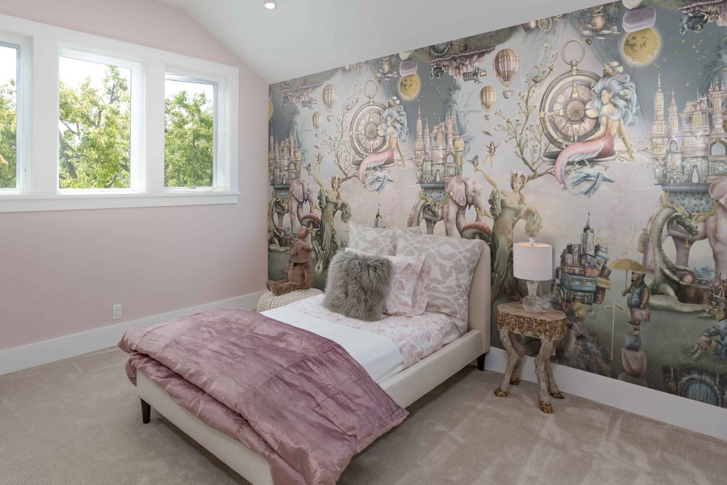 Custom fairytale wall mural wallpaper for a girls bedroom. Wallpaper For Walls Australia