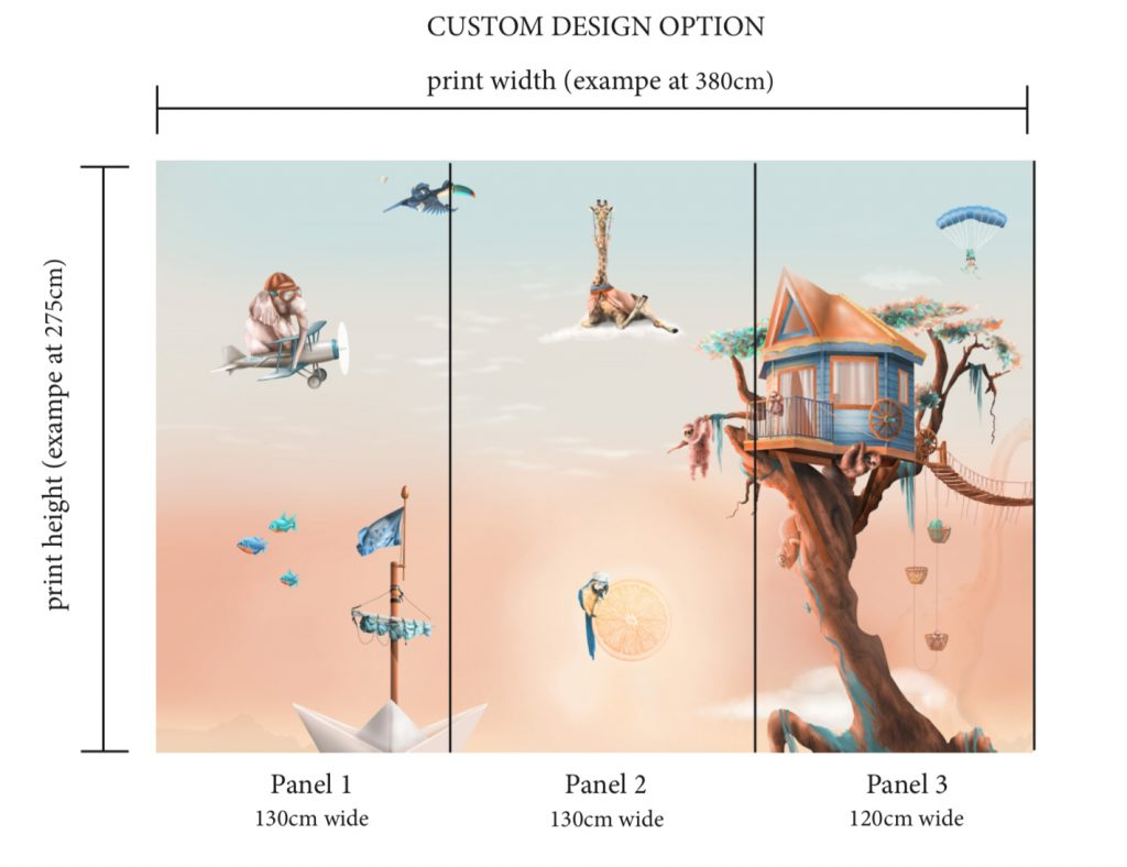 Custom wallpaper and mural scale design and colour option design from australia