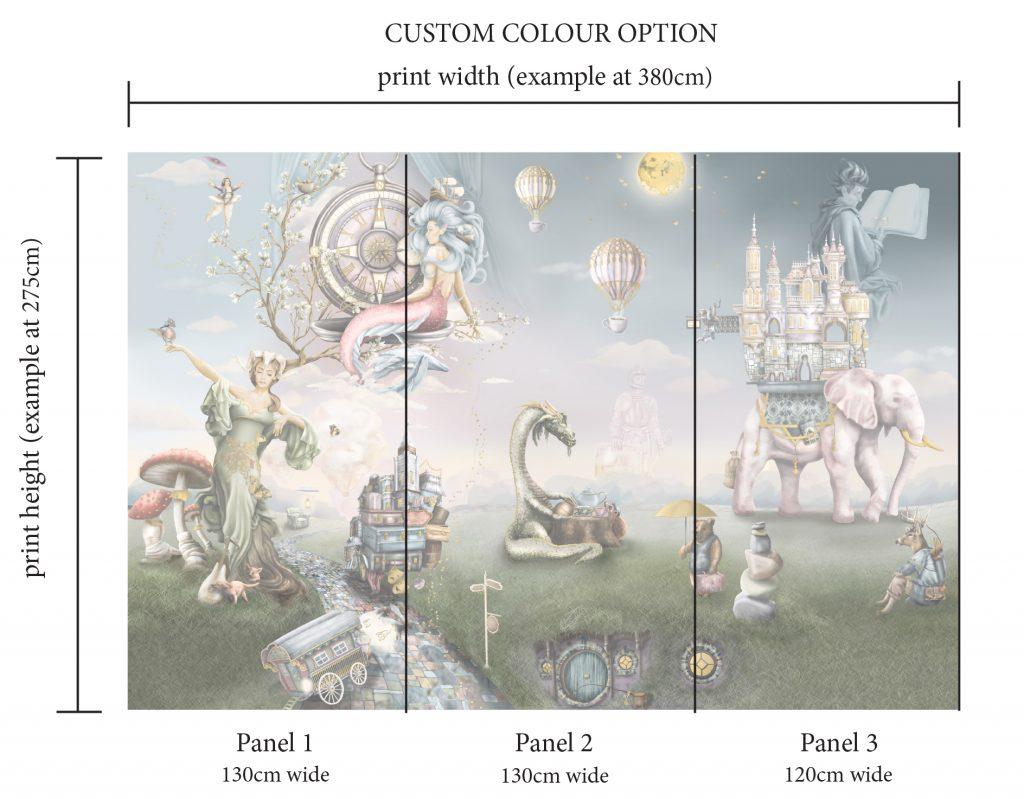 Custom scale and design option for wallpaper or mural design - Australia