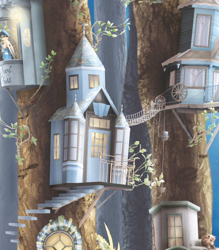Magical kids wallpaper wall mural