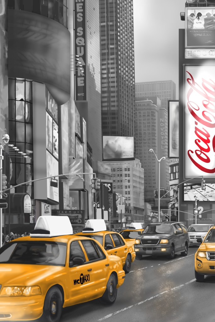 New York City Times Square Wall Mural 1