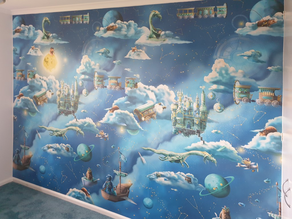 Space For The Moon Kids Boys Custom Bespoke Kids Wallpaper