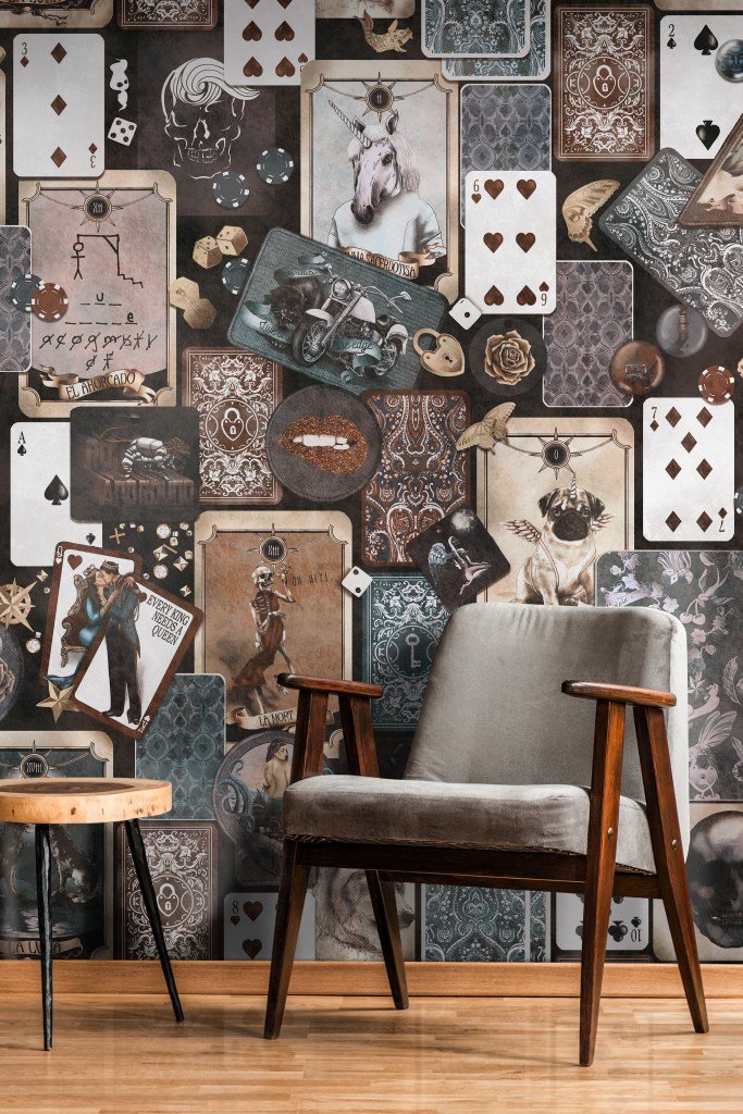 Different unusual quirky wallpaper perfect for commercial spaces - grunge industrial vintage wallpaper