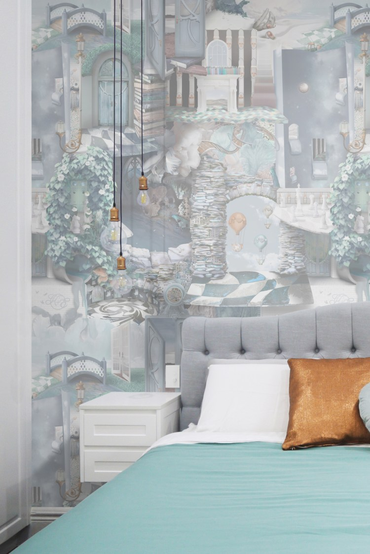 Unique custom statement quirky wallpaper wall mural custom bespoke