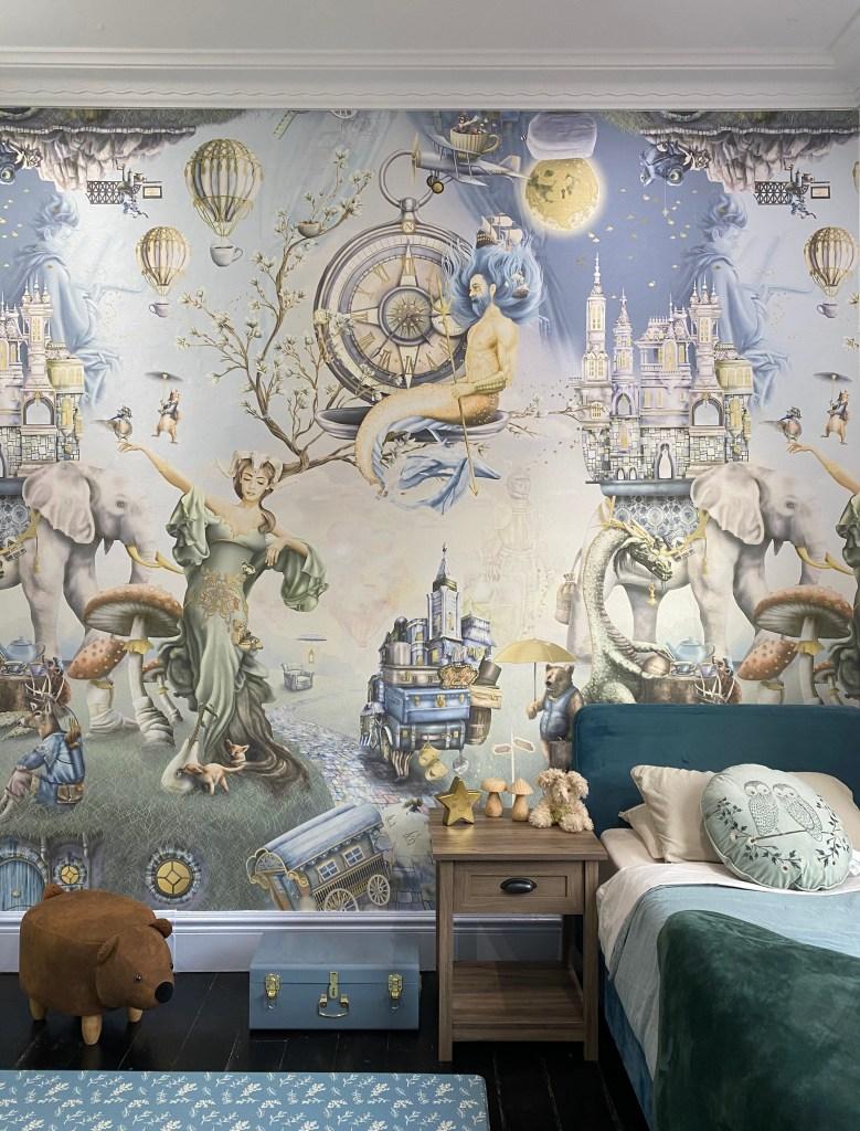 Jason Bedroom Whimsical Woodland Forest Wallpaper Boys mural Animals